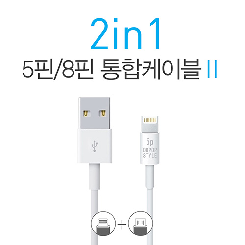 2in1 United Cable Series 2 (5핀/8핀 통합케이블)